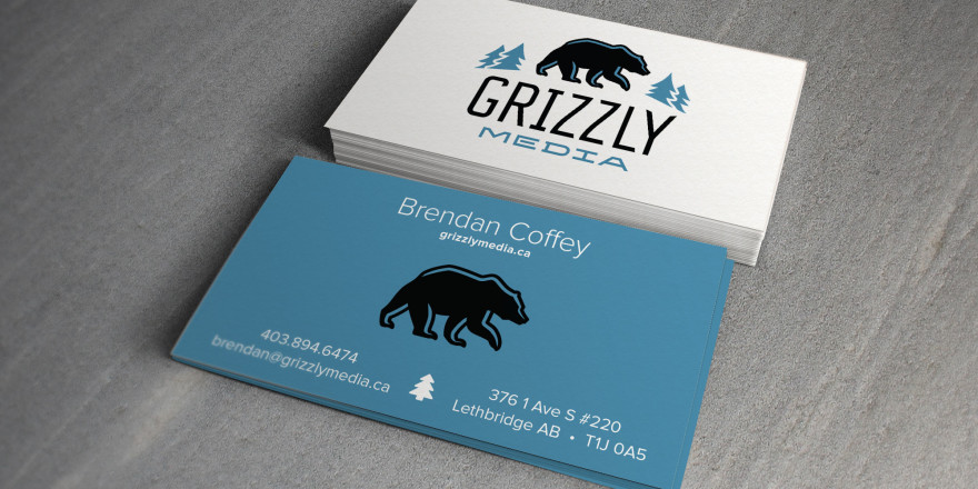 Grizzly Media Lethbridge Business Card Design