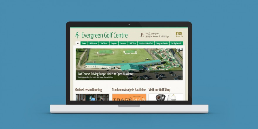 Evergreen Golf Centre Website