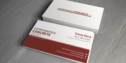 Contemporary Concrete Design Business Cards