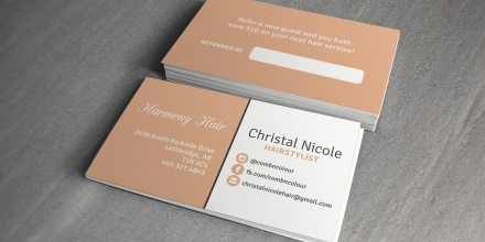 Comb & Colour Business Cards