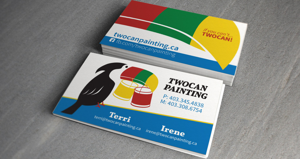 Twocan Painting Business Cards • Grizzly Media
