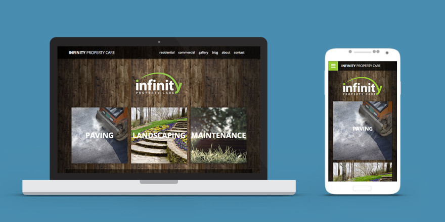 Infinity Property Care Website Design Lethbridge