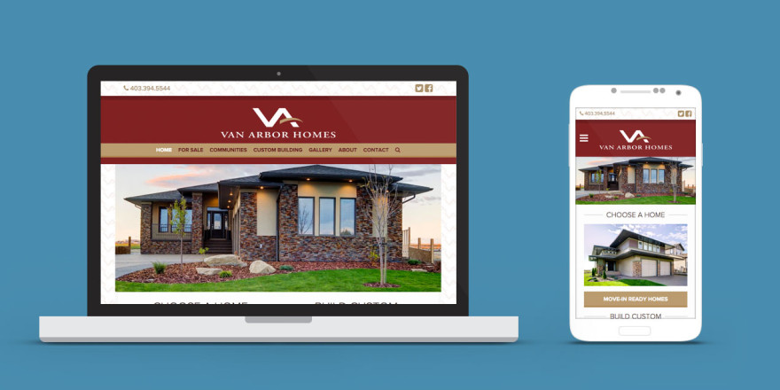 Van Arbor Homes Lethbridge Web Design Project