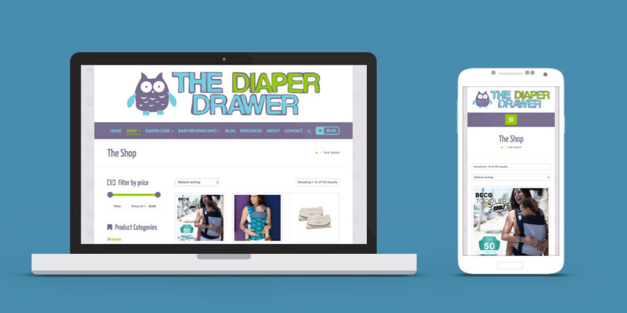 The Diaper Drawer Lethbridge Website Redesign