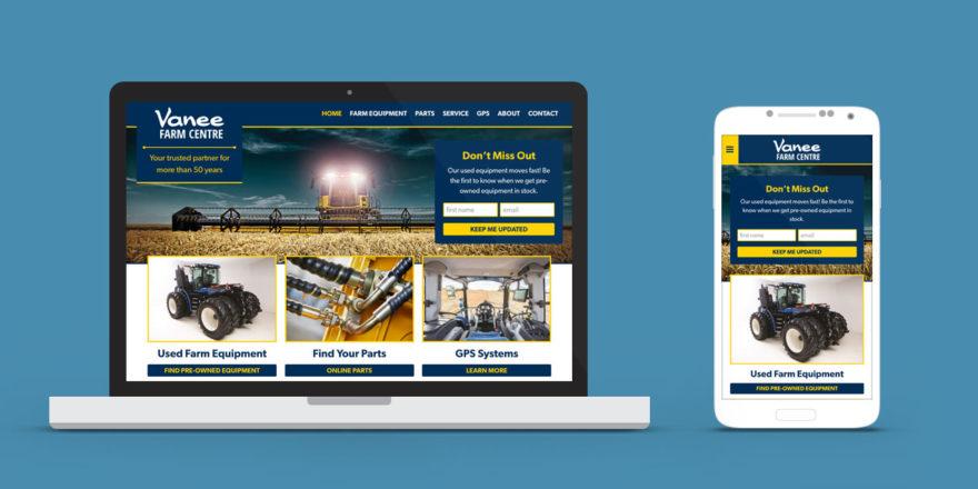 Vanee Farm Centre Web Design