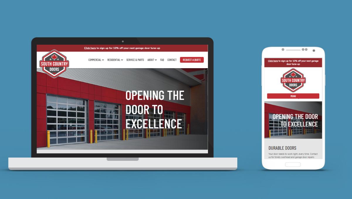 South Country Doors Web Design & Branding