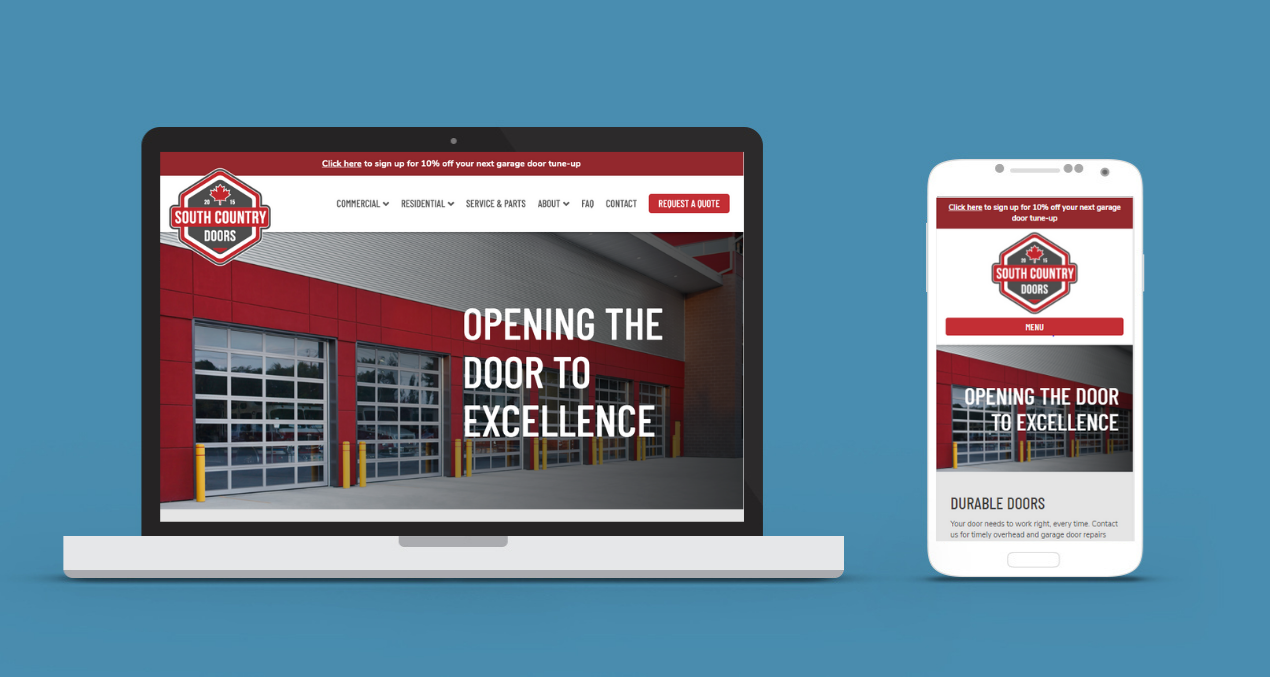 South Country Doors Web Design & Branding